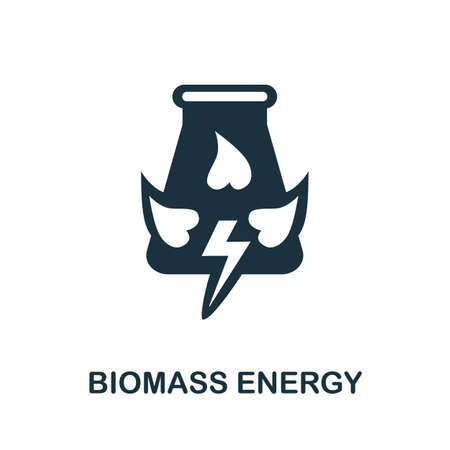 Biomass Energy icon. Simple illustration from alternative energy collection. Monochrome Biomass Energy icon for web design, templates and infographics.