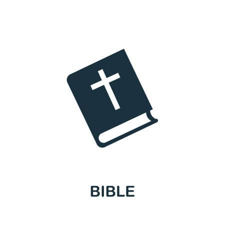 Bible icon. Simple element from religion collection. Creative Bible icon for web design, templates, infographics and more