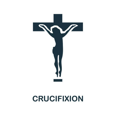 Crucifixion icon. Simple element from religion collection. Creative Crucifixion icon for web design, templates, infographics and more Illustration