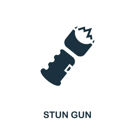 Stun Gun icon. Simple element from police collection. Creative Stun Gun icon for web design, templates, infographics and more