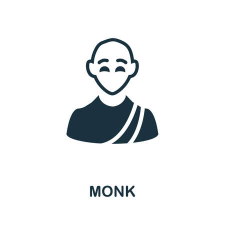 Monk icon. Simple element from religion collection. Creative Monk icon for web design, templates, infographics and more