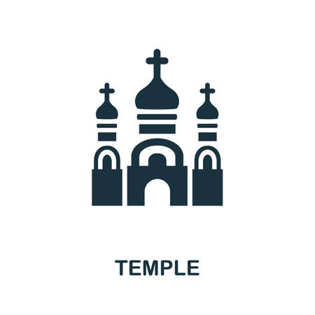Temple icon. Simple element from religion collection. Creative Temple icon for web design, templates, infographics and more