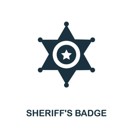 SheriffS Badge icon. Simple element from police collection. Creative SheriffS Badge icon for web design, templates, infographics and more