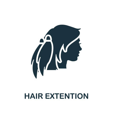 Hair Extension icon. Simple element from beauty salon collection. Creative Hair Extension icon for web design, templates, infographics and more