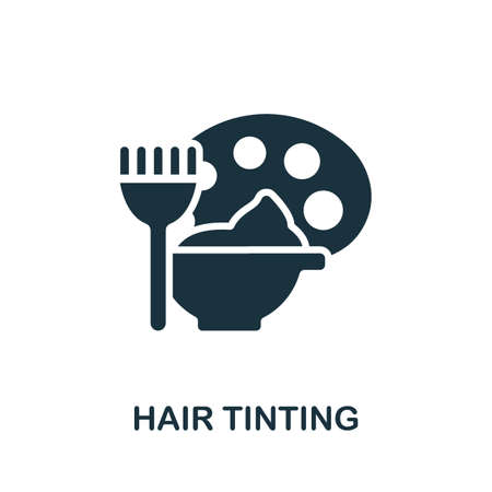 Hair Tinting icon. Simple element from beauty salon collection. Creative Hair Tinting icon for web design, templates, infographics and more