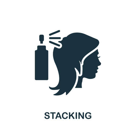 Stacking icon. Simple element from beauty salon collection. Creative Stacking icon for web design, templates, infographics and more Ilustrace