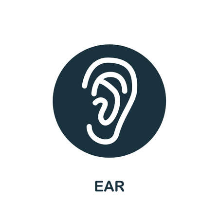 Ear icon. Simple element from internal organs collection. Creative Ear icon for web design, templates, infographics and more