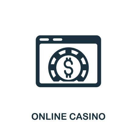 Online Casino icon. Simple element from casino collection. Creative Online Casino icon for web design, templates, infographics and more