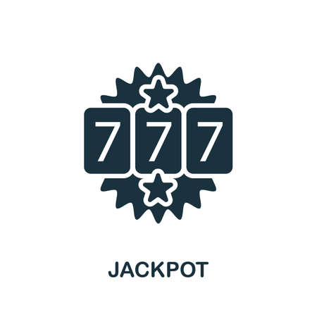 Jackpot icon. Simple element from casino collection. Creative Jackpot icon for web design, templates, infographics and more