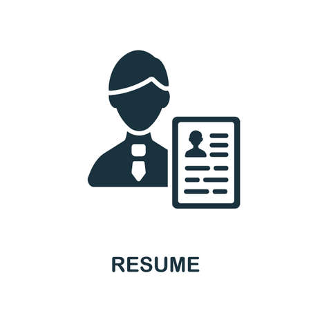 Resume icon. Simple element from business recruitment collection. Creative Resume icon for web design, templates, infographics and more