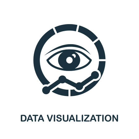 Data Visualization icon. Simple illustration from business intelligence collection. Monochrome Data Visualization icon for web design, templates and infographics.