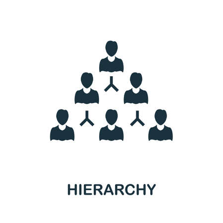 Hierarchy icon. Simple illustration from business intelligence collection. Monochrome Hierarchy icon for web design, templates and infographics.