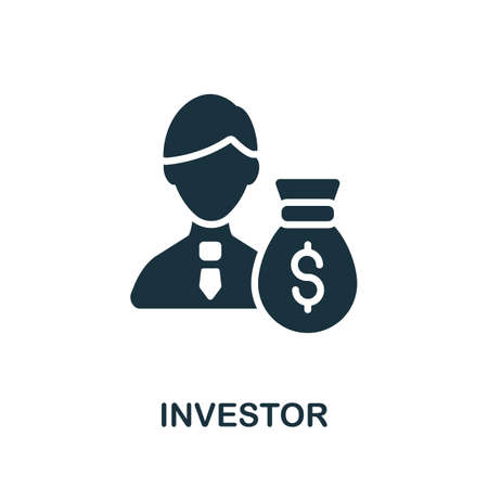 Investor icon. Simple illustration from investment collection. Monochrome Investor icon for web design, templates and infographics.