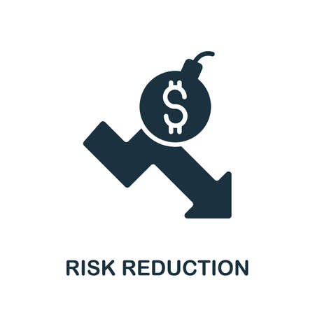 Risk Reduction icon. Simple illustration from investment collection. Monochrome Risk Reduction icon for web design, templates and infographics.