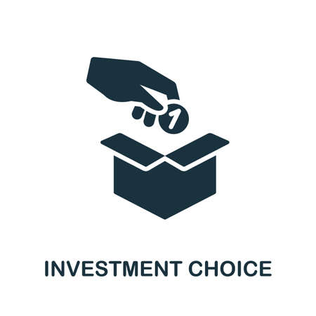 Investment Choice icon. Simple illustration from investment collection. Monochrome Investment Choice icon for web design, templates and infographics.