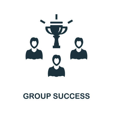 Group Success icon. Simple illustration from team building collection. Monochrome Group Success icon for web design, templates and infographics.