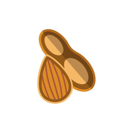 Nuts icon. Simple illustration from allergy collection. Monochrome Nuts icon for web design, templates and infographics.
