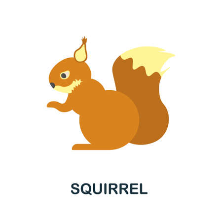 Squirrel icon. Simple illustration from autumn collection. Monochrome Squirrel icon for web design, templates and infographics. Ilustração