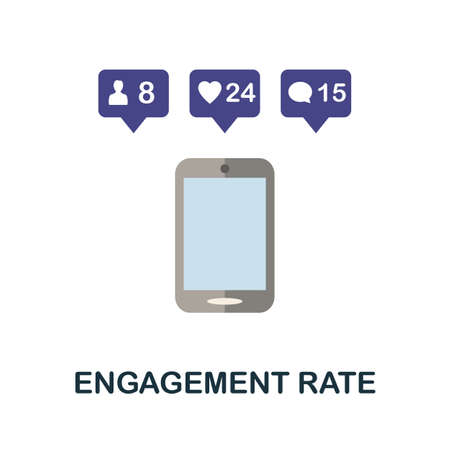 Engagement Rate icon. Simple illustration from blogging collection. Monochrome Engagement Rate icon for web design, templates and infographics.