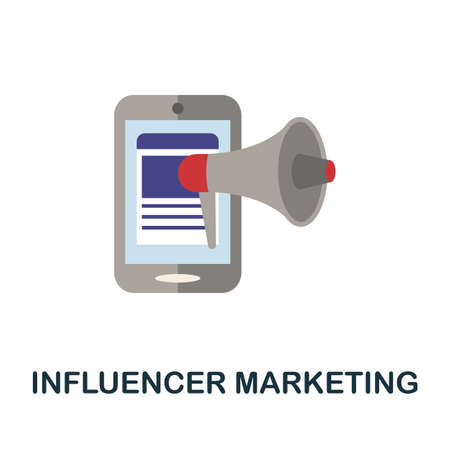 Influencer Marketing icon. Simple illustration from blogging collection. Monochrome Influencer Marketing icon for web design, templates and infographics.