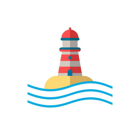 Lighthouse icon. Simple illustration from buildings collection. Monochrome Lighthouse icon for web design, templates and infographics. Vetores
