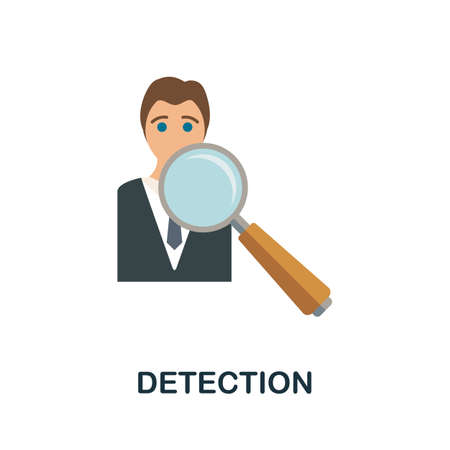 Detection icon. Simple illustration from business growth collection. Monochrome Detection icon for web design, templates and infographics.