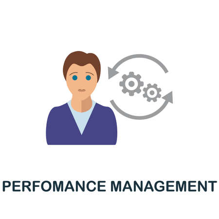 Perfomance Management icon. Simple illustration from business motivation collection. Monochrome Perfomance Management icon for web design, templates and infographics.