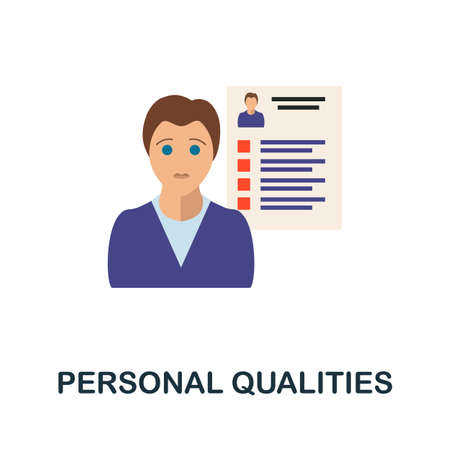 Personal Qualities icon. Simple illustration from business motivation collection. Monochrome Personal Qualities icon for web design, templates and infographics.