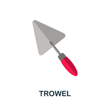 Trowel icon. Simple illustration from construction collection. Monochrome Trowel icon for web design, templates and infographics. Çizim