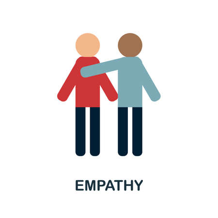 Empathy icon. Simple illustration from core values collection. Monochrome Empathy icon for web design, templates and infographics.  イラスト・ベクター素材