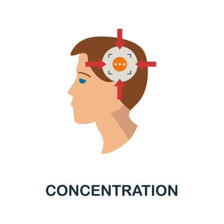 Concentration icon. Simple illustration from creativity collection. Monochrome Concentration icon for web design, templates and infographics.