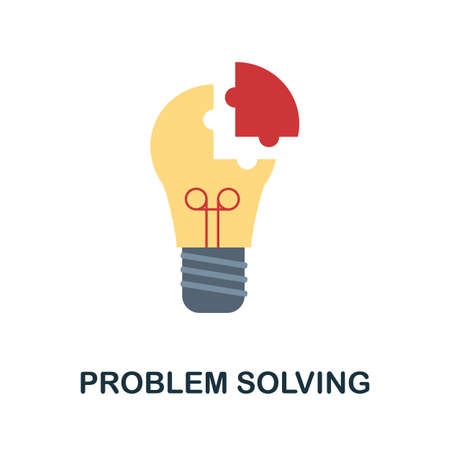 Problem Solving icon. Simple illustration from creativity collection. Monochrome Problem Solving icon for web design, templates and infographics.