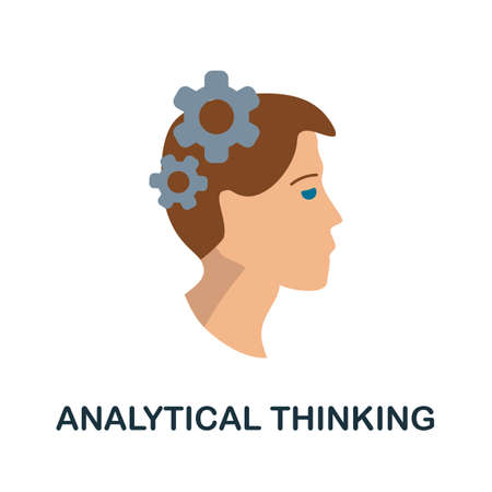 Analytical Thinking icon. Simple illustration from critical thinking collection. Monochrome Analytical Thinking icon for web design, templates and infographics.