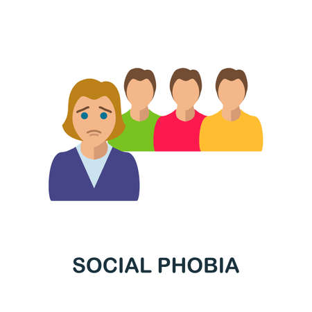 Social Phobia icon. Simple illustration from critical thinking collection. Monochrome Social Phobia icon for web design, templates and infographics.