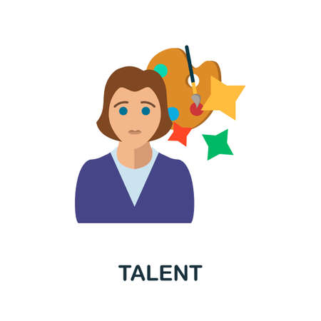 Talent icon. Simple illustration from critical thinking collection. Monochrome Talent icon for web design, templates and infographics.