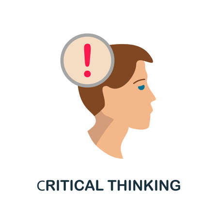 Critical Thinking icon. Simple line element critical thinking symbol for templates, web design and infographics.