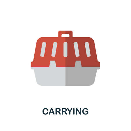 Carrying icon. Simple illustration from home animals collection. Monochrome Carrying icon for web design, templates and infographics.