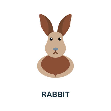 Rabbit icon. Simple illustration from home animals collection. Monochrome Rabbit icon for web design, templates and infographics.