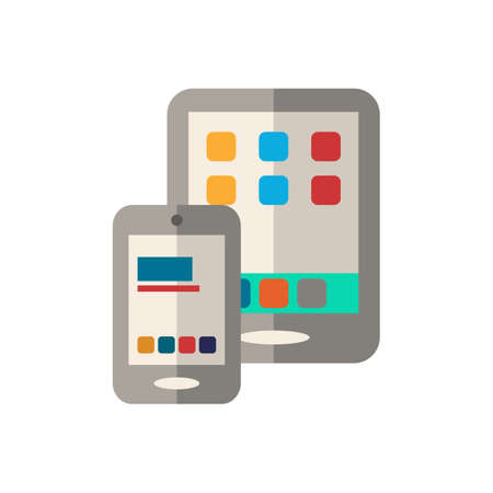 Mobile Shopping icon. Simple illustration from e-commerce collection. Monochrome Mobile Shopping icon for web design, templates and infographics. Illustration