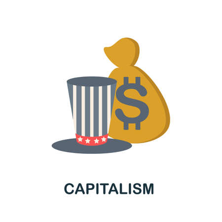 Capitalism icon. Simple illustration from economic collection. Monochrome Capitalism icon for web design, templates and infographics.