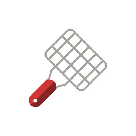 Grill Net icon. Simple illustration from grill and barbecue collection. Monochrome Grill Net icon for web design, templates and infographics.
