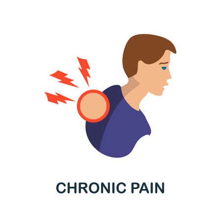Chronic Pain icon. Simple illustration from health diseases collection. Monochrome Chronic Pain icon for web design, templates and infographics.