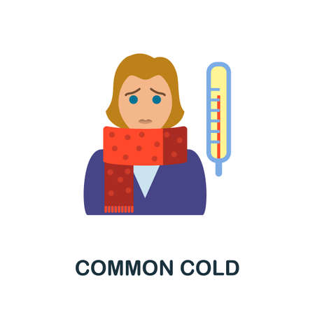 Common Cold icon. Simple illustration from health diseases collection. Monochrome Common Cold icon for web design, templates and infographics.