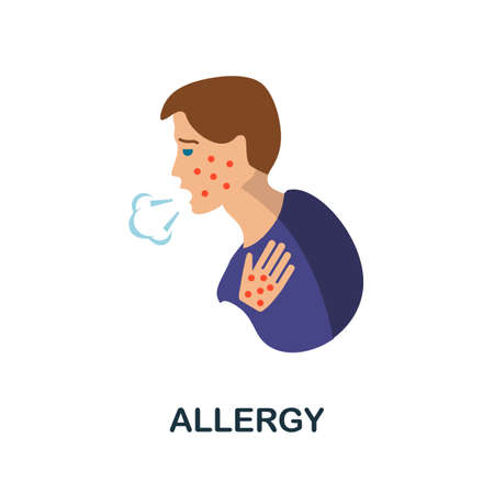 Allergy icon. Simple illustration from health diseases collection. Monochrome Allergy icon for web design, templates and infographics.