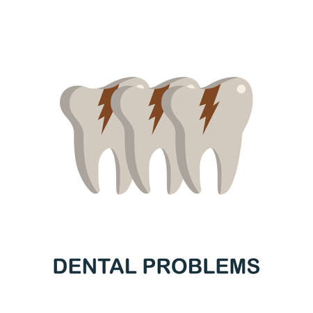 Dental Problems icon. Simple illustration from health diseases collection. Monochrome Dental Problems icon for web design, templates and infographics.