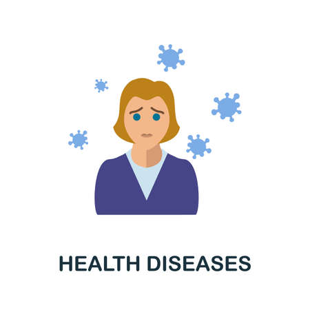 Health Diseases icon. Simple illustration from health diseases collection. Monochrome Health Diseases icon for web design, templates and infographics.
