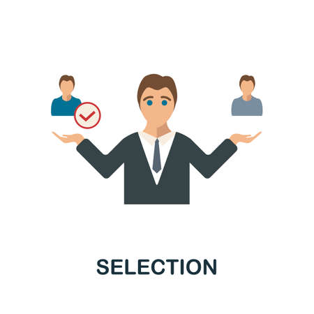 Selection icon. Simple illustration from human resources collection. Monochrome Selection icon for web design, templates and infographics.