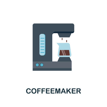 Coffeemaker icon. Simple illustration from kitchen appliances collection. Monochrome Coffeemaker icon for web design, templates and infographics.