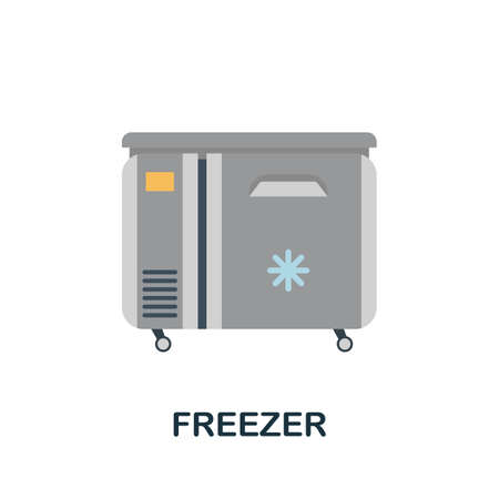 Freezer icon. Simple illustration from kitchen appliances collection. Monochrome Freezer icon for web design, templates and infographics.