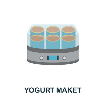 Yogurt Maket icon. Simple illustration from kitchen appliances collection. Monochrome Yogurt Maket icon for web design, templates and infographics.  イラスト・ベクター素材